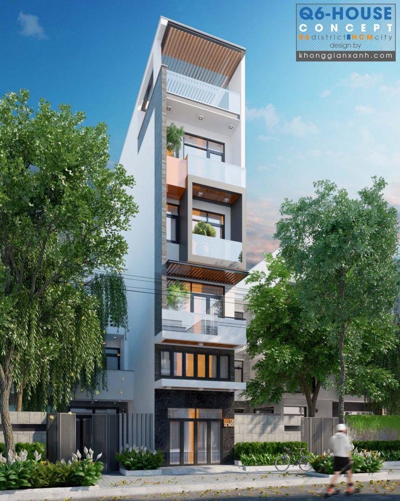 Thiết kế nhà phố quận 6 tp hcm
