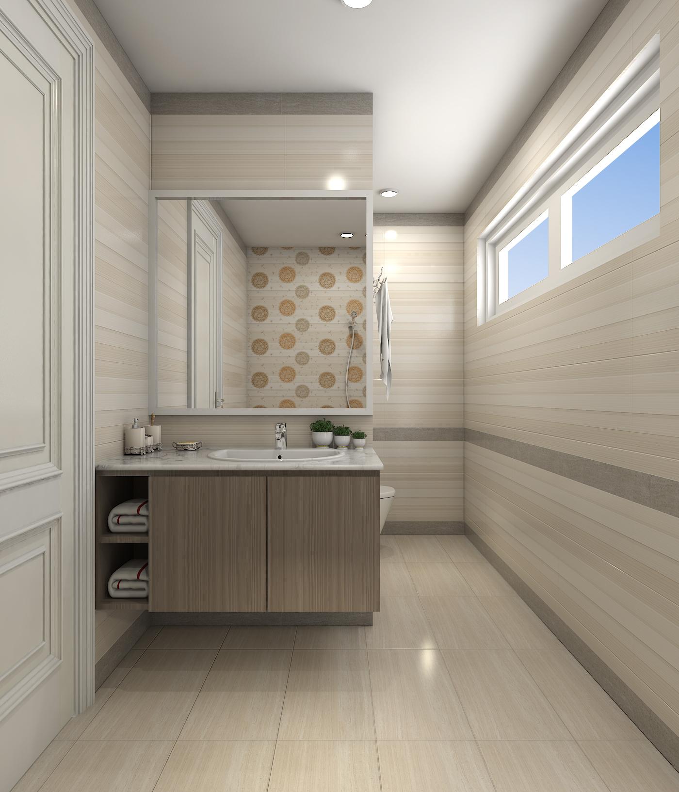 Gợi ý thiết kế phòng tắm trông rộng hơn