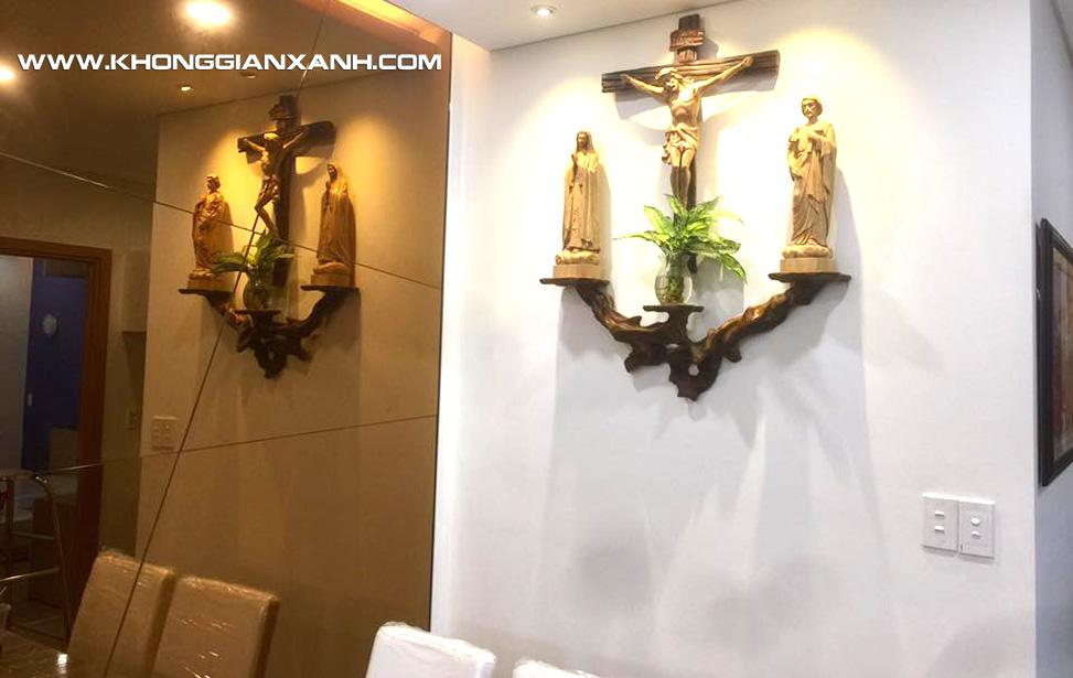 Mẫu bàn thờ phù hợp với không gian chung cư hiện đại