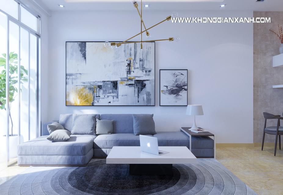 Thiết kế nội thất phòng khách căn hộ Luxcity
