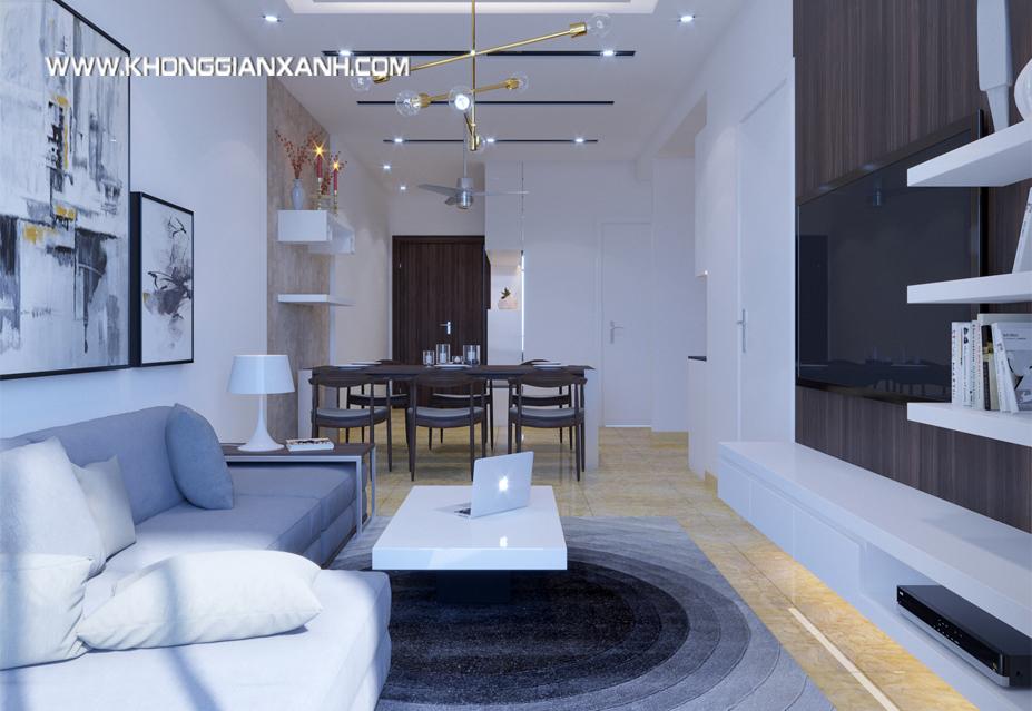 Thiết kế nội thất căn hộ Luxcity