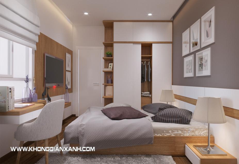 Thiết kế nội thất phòng ngủ căn hộ Luxcity