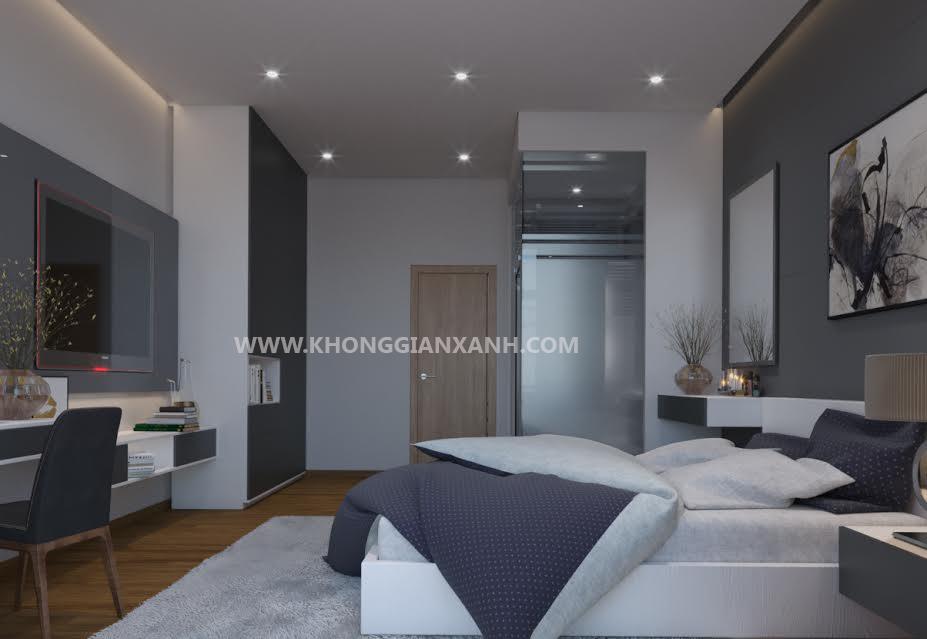 Thiết kế nội thất nhà phố - phòng ngủ khách