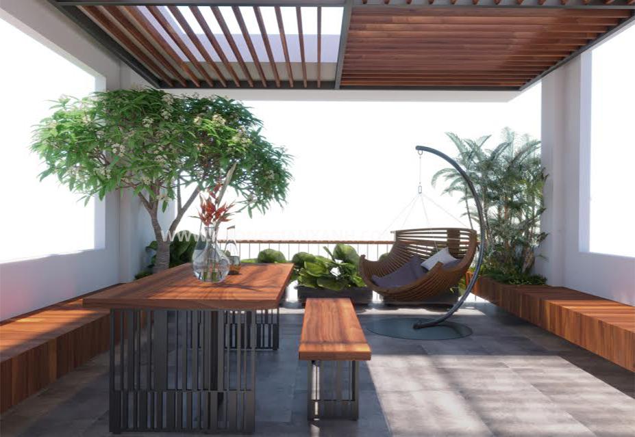 Thiết kế nội thất nhà phố - Sân thượng