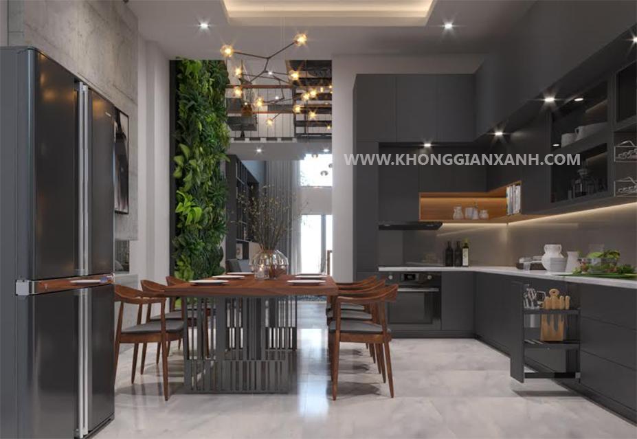 Thiết kế nội thất nhà phố - không gian bếp