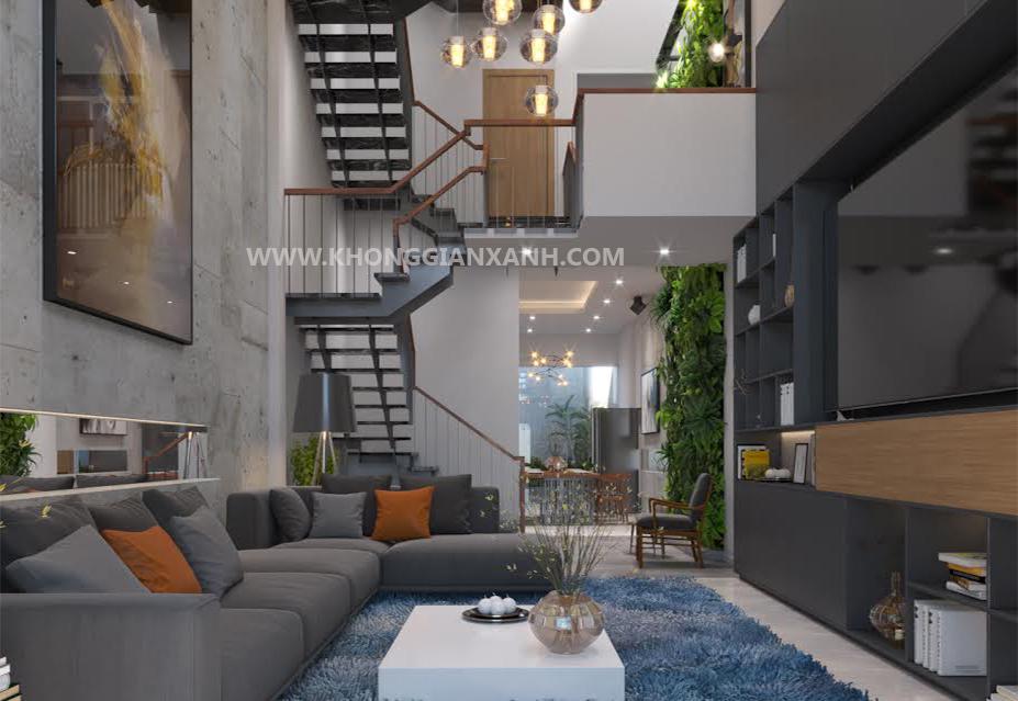 Thiết kế nội thất nhà phố quận Bình Tân - không gian phòng khách