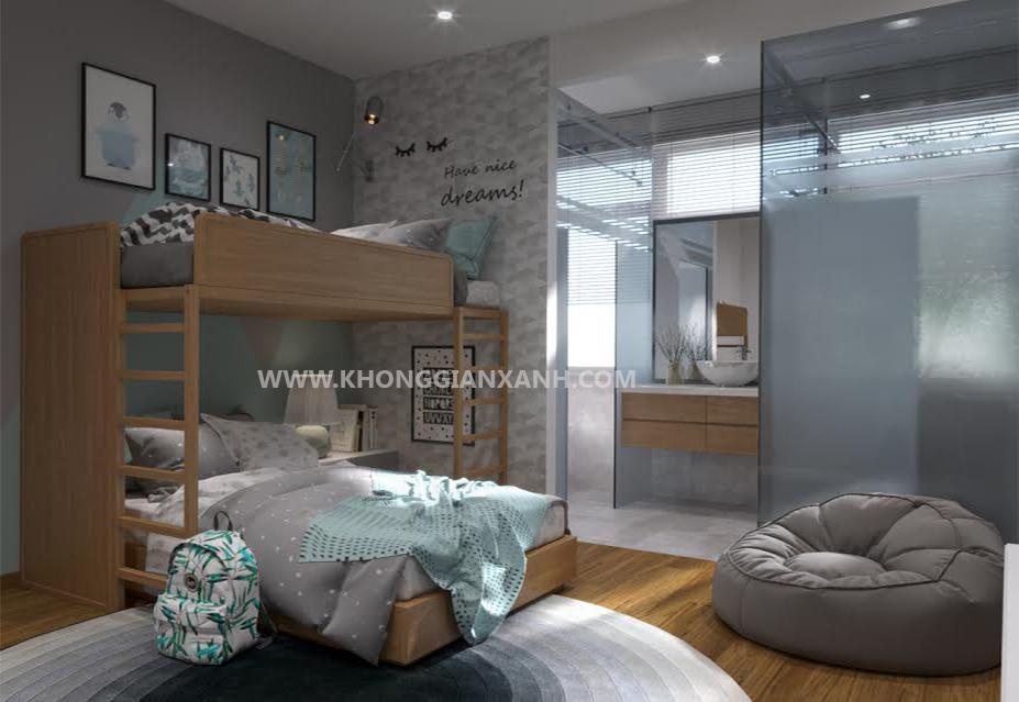 Thiết kế nội thất nhà phố - phòng ngủ trẻ em