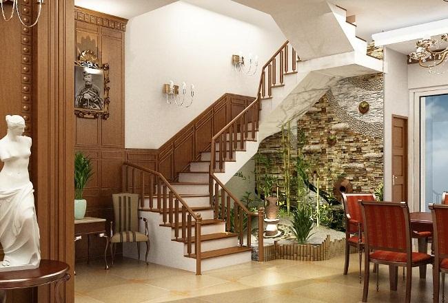 Vị trí đặt cầu thang tại nhà biệt thự