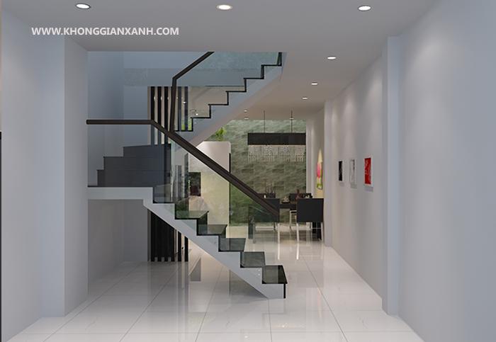 Thiết kế cầu thang nhà phố hiện đại