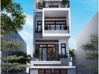 Thiết kế nhà phố 4 tầng hiện đại – Ms Giàu