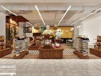 Thiết kế gian hàng Souvenir trong Lotte Mart