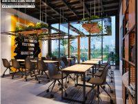 Thiết kế quán ăn với style công sở