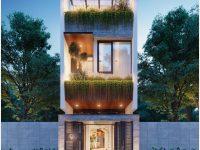 Thiết kế nhà phố mặt tiền 4m Đà Nẵng