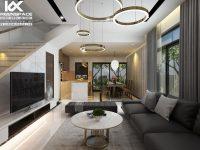 Thiết kế nội thất nhà phố 2 tầng tỉnh Long An