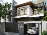 Thiết kế nhà phố 2 tầng hiện đại