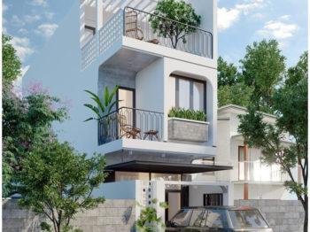 Thiết kế nhà phố với phong cách nhẹ nhàng