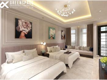 Thiết kế nội thất phòng khách sạn mini tại Vũng Tàu