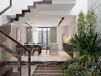 Nội thất nhà phố theo phong cách hiện đại