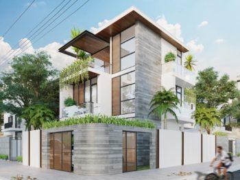 Thiết kế biệt thự 2 mặt tiền - Mr Linh