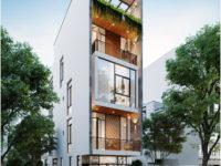 Thiết kế nhà phố 4 tầng tại Đà Nẵng