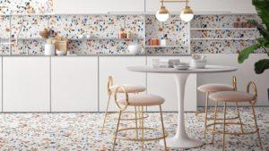 Sử dụng gạch Terrazzo cho tường và sàn