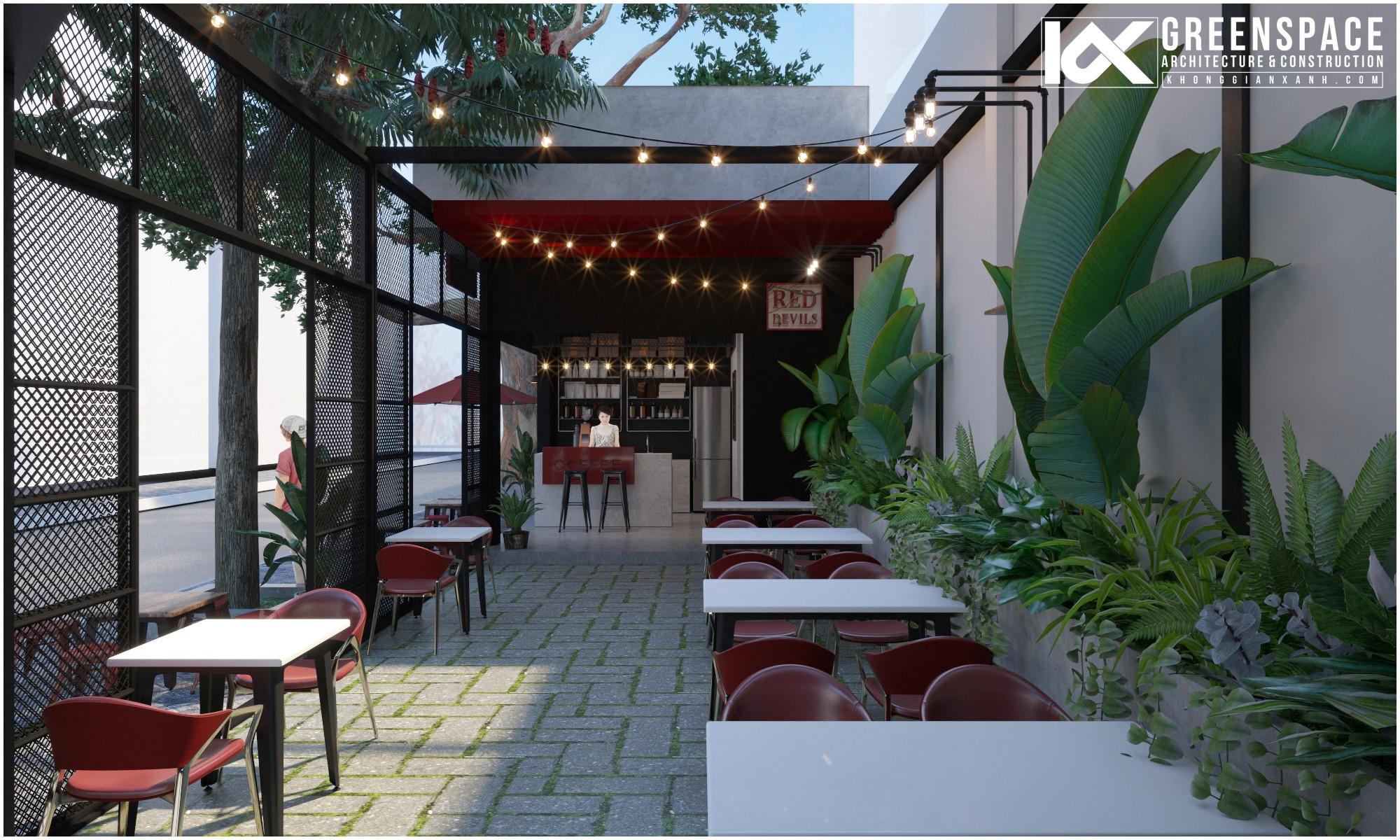 dự án thiết kế cải tạo quán cafe