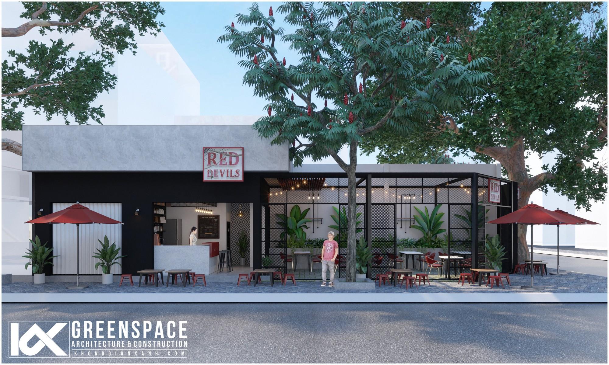 Red Devils là một dự án thiết kế cải tạo quán cafe