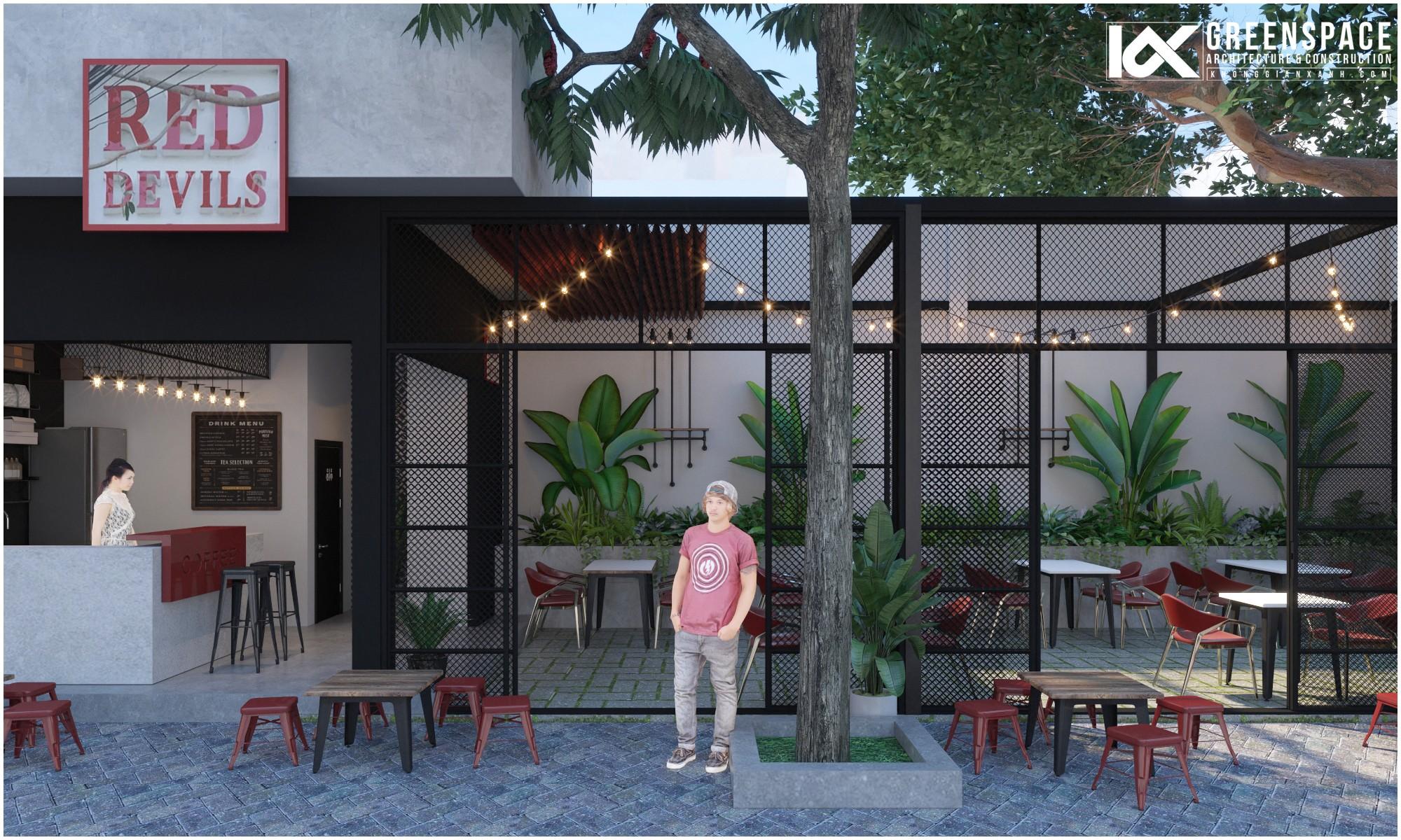 Không Gian Xanh thiết kế cải tạo quán cafe Red Devils