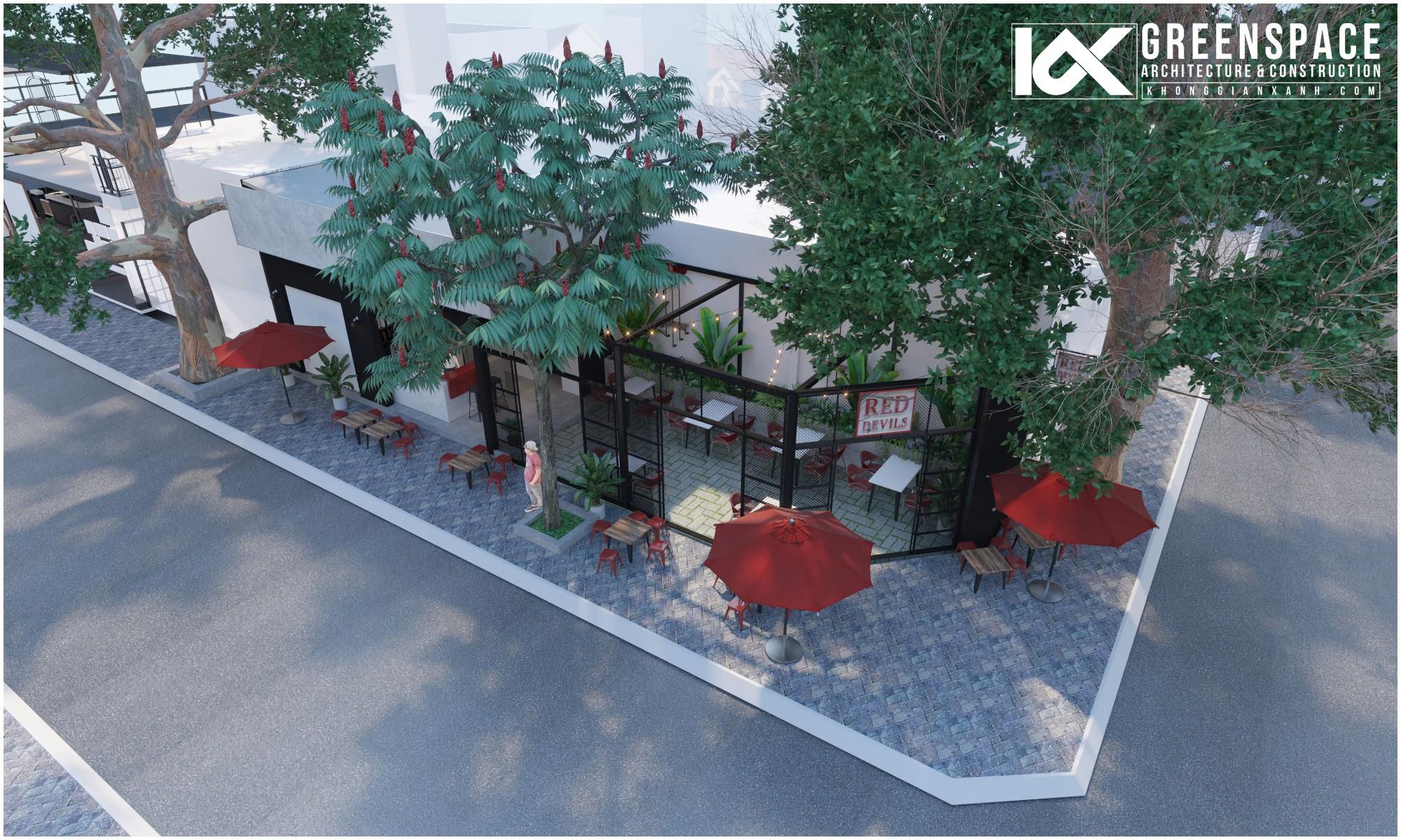 Mô hình thiết kế quán cafe Red Devils