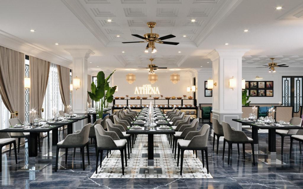 thiết kế khách sạn athena hội an