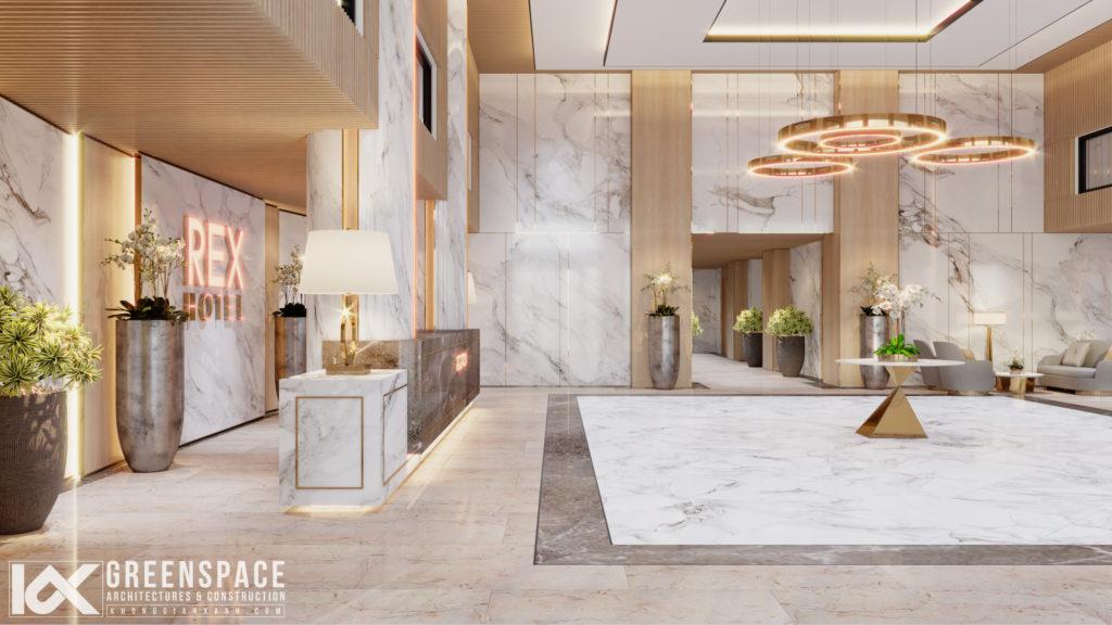 thiết kế kiến trúc và nội thất khách sạn
