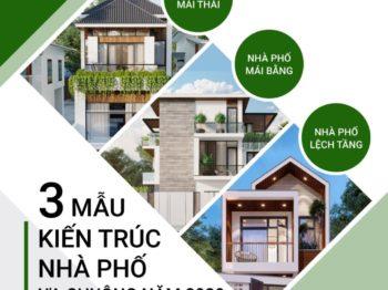 3 mẫu thiết kế nhà phố ưa chuộng năm 2020