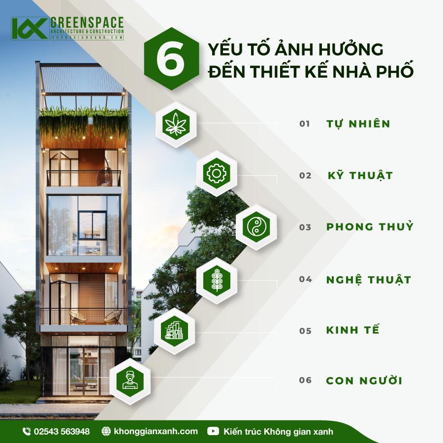 6 yếu tố ảnh hưởng đến thiết kế nhà phố