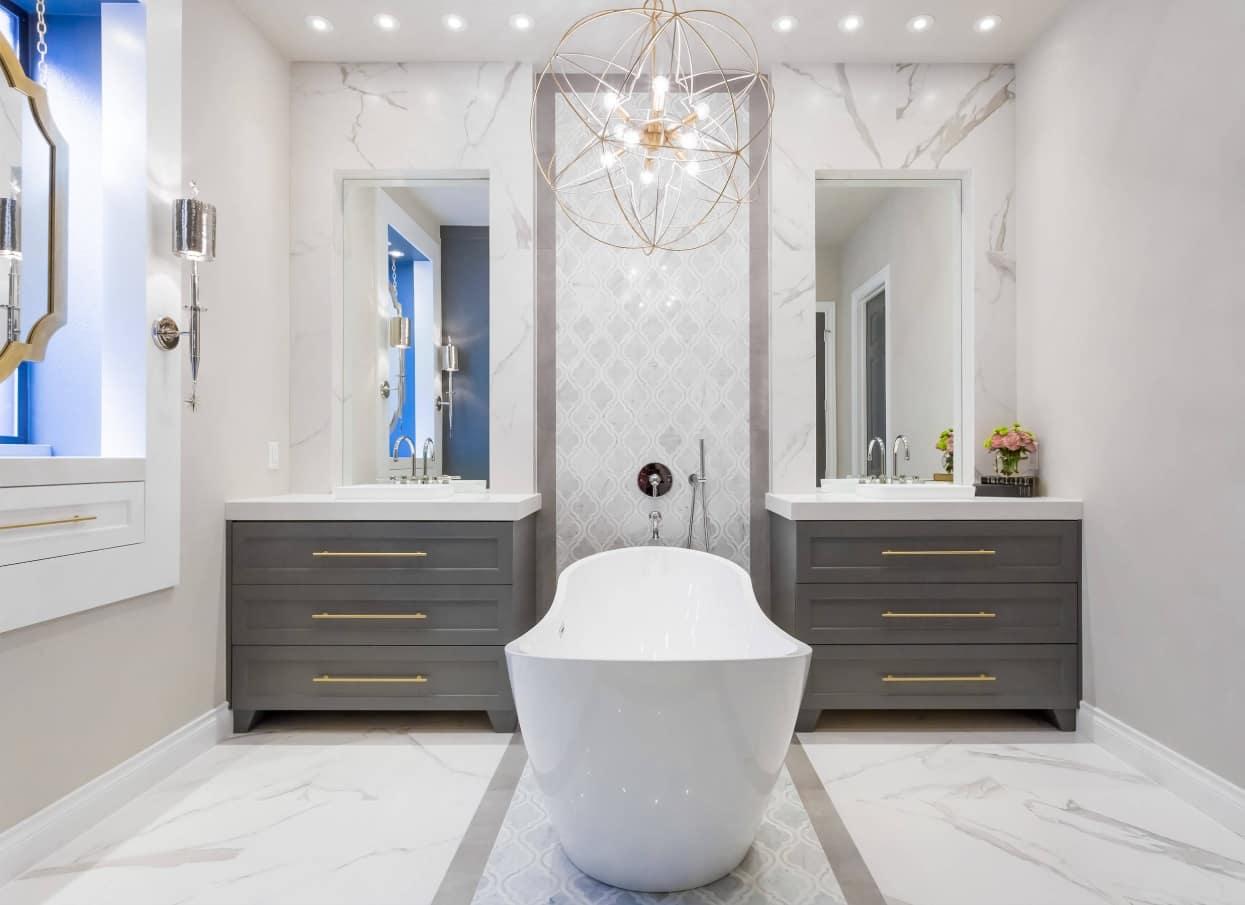 chi tiết đồng thau trong phòng tắm