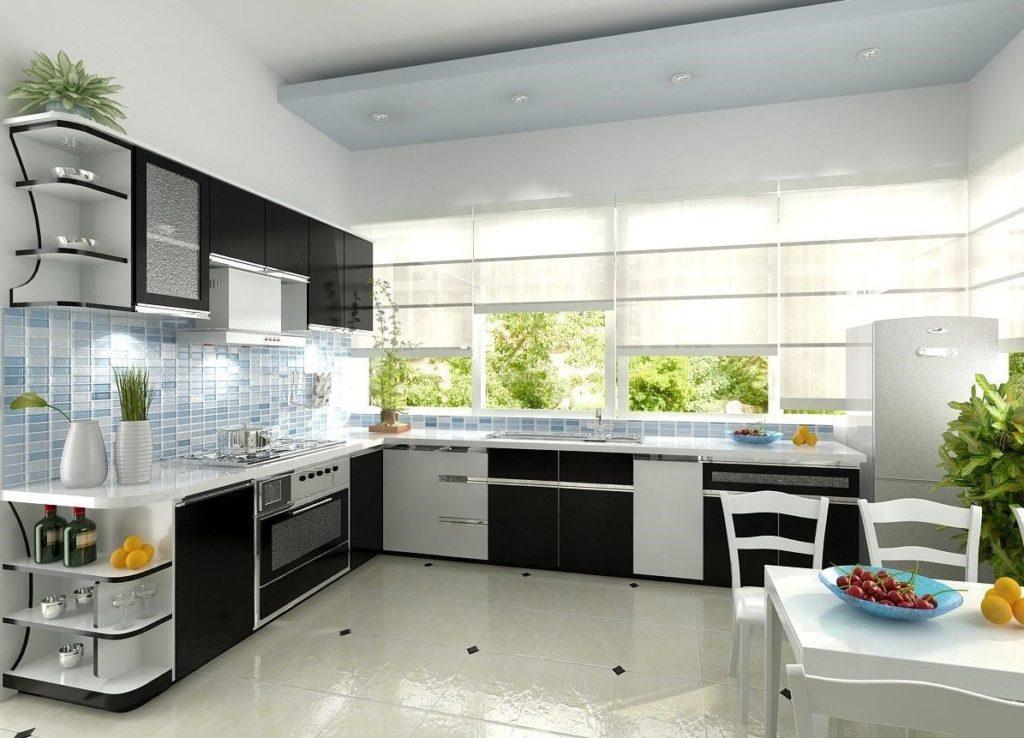 đặt cây xanh trên tủ bếp