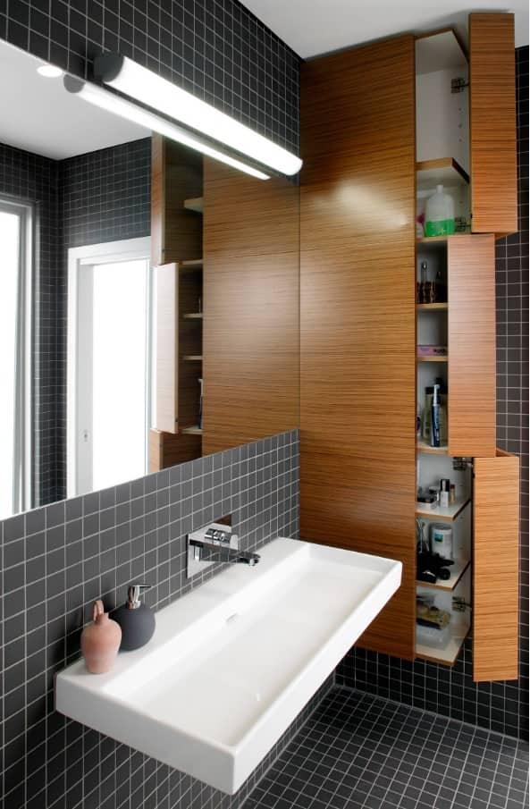 giải pháp lưu trữ thông minh trong phòng tắm