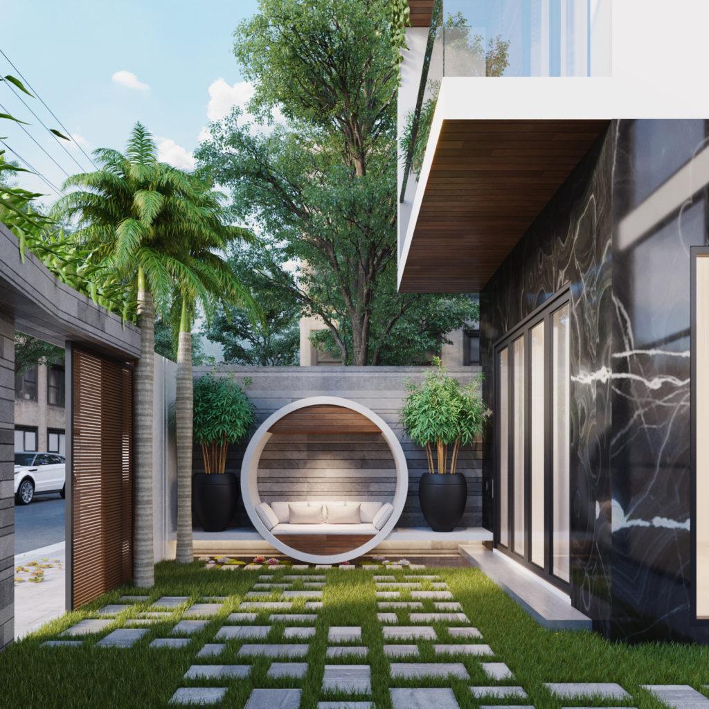 không gian và ánh sáng trong thiết kế nhà phố