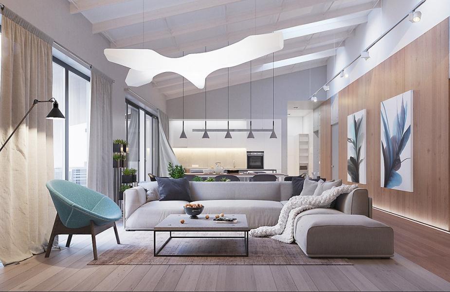 phong cách thiết kế nội thất organic