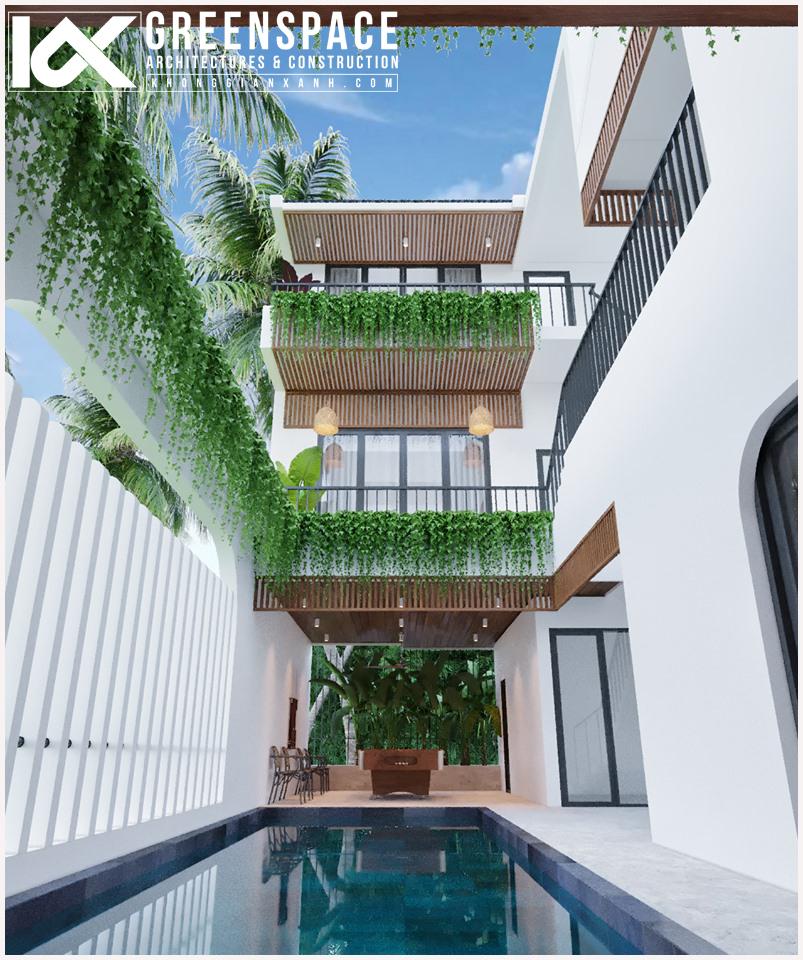 thiết kế biệt thự đẹp không gian xanh