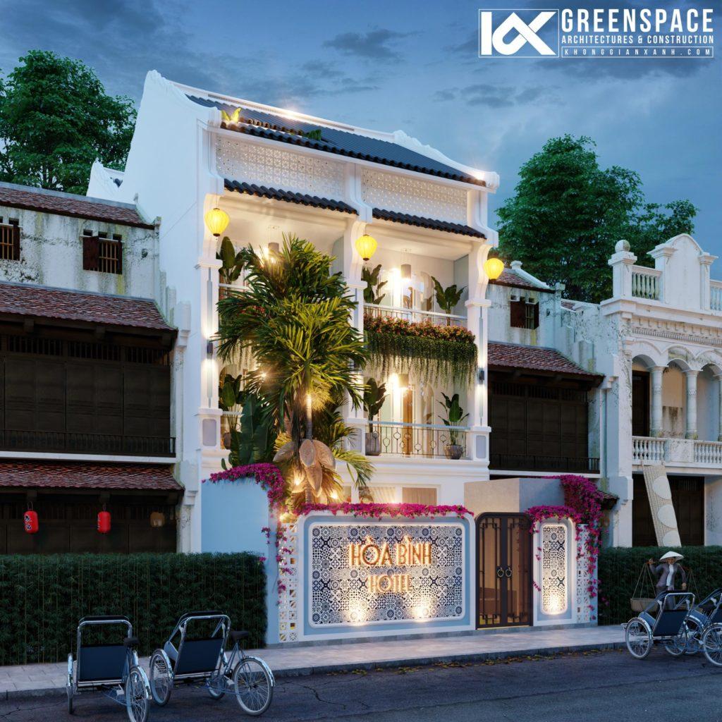 Thiết kế cải tạo khách sạn Hòa Bình – Hội An