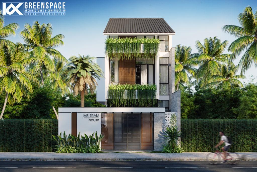 thiết kế nhà phố ba tầng hội an