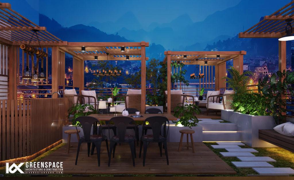 Thiết kế vườn cafe sân thượng  – Vũng Tàu