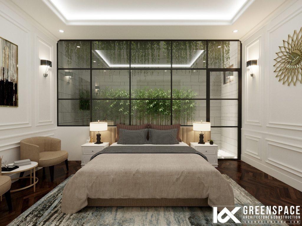 không gian mở cho nội thất biệt thự