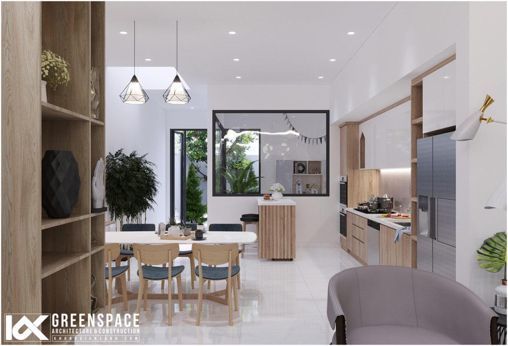 Cải tạo nội thất nhà phố – Không gian xuyên suốt mộc mạc