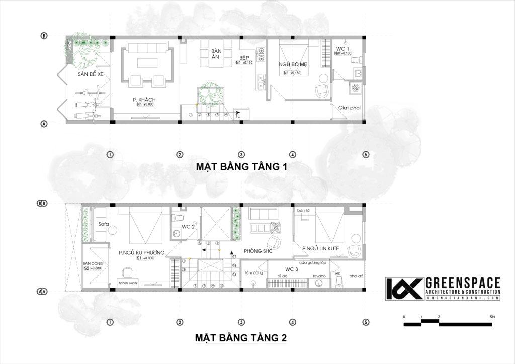 Nhà phố mặt tiền 5m hiện đại – Đà Nẵng