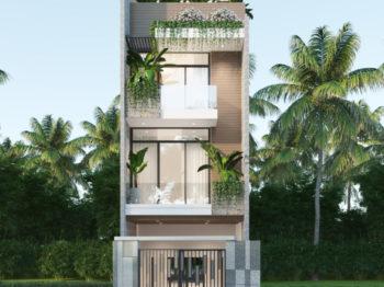 Nhà phố rộng 5m phong cách hiện đại