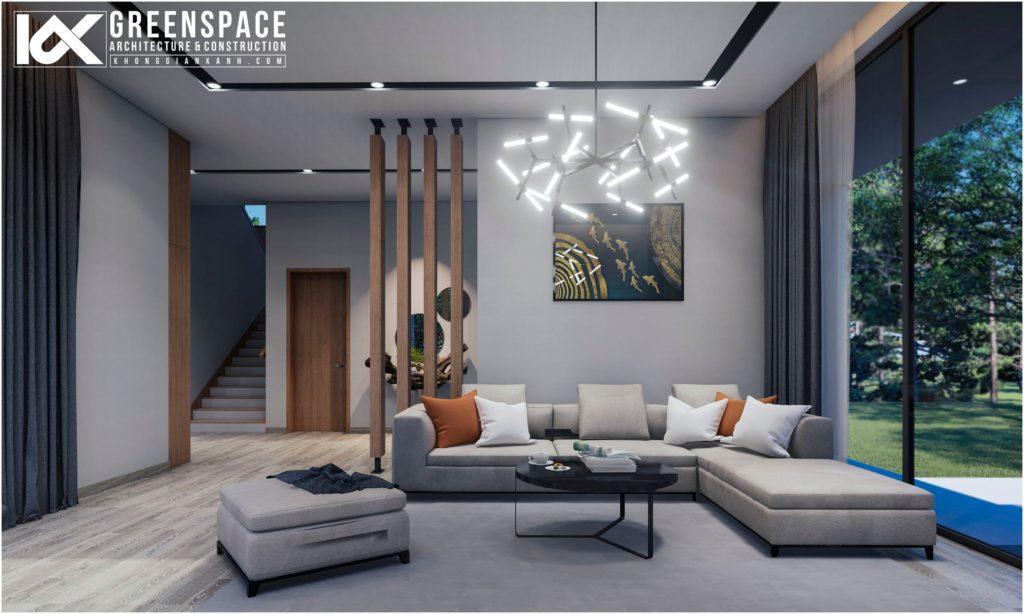 Nội thất biệt thự Lâm Đồng – không gian mở hiện đại