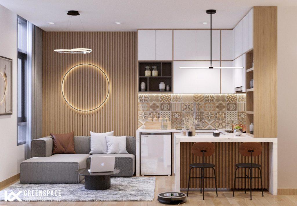 Nội thất căn hộ cho thuê mini - Tối giản tiện nghi
