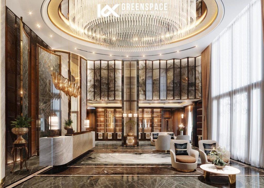 4 mẫu thiết kế sảnh khách sạn độc đáo 2020