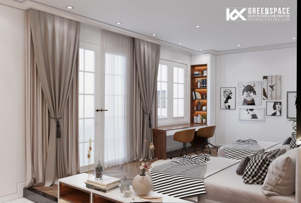 Cải tạo nội thất nhà phố tân cổ điển – Vẻ đẹp tinh tế thoáng đãng